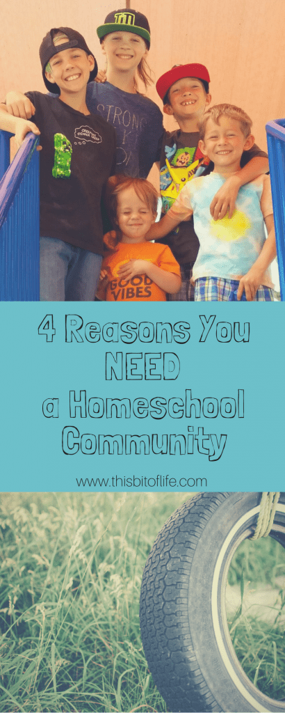 Four reasons you NEED a homeschool community. Homeschooling your kids is always easier on everyone when you have friends along side of you! #homeschooling #community
