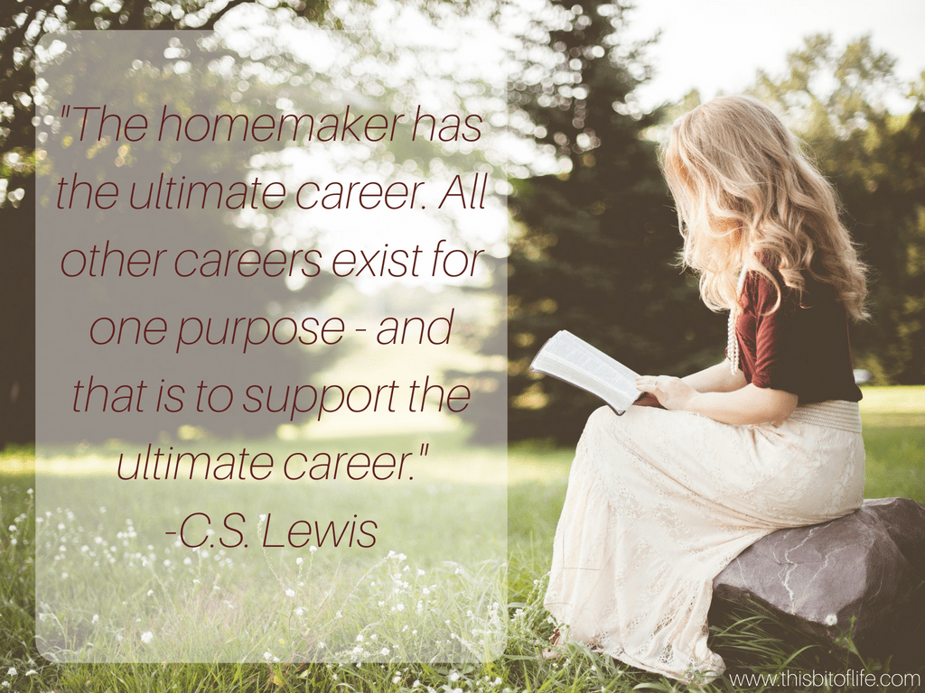 cs lewis homemaking quote