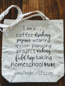 homeschool mom bag
