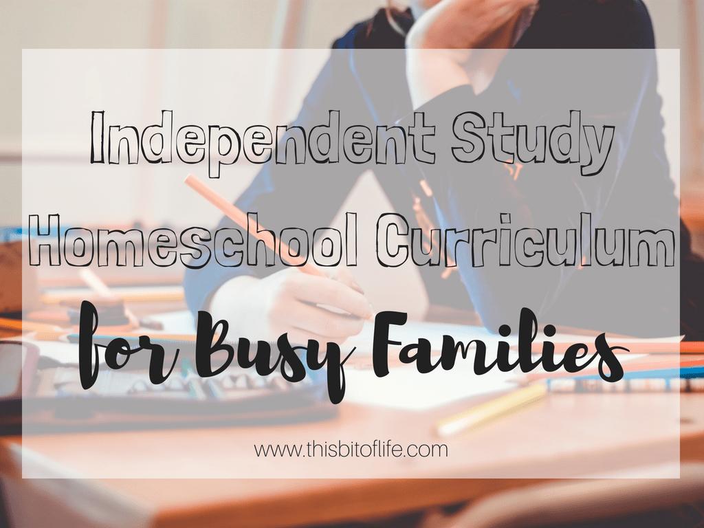 Independent Study homeschooling method