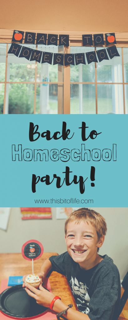 Back to Homeschool Party! No better way to start your homeschool year than with a back to school breakfast party! #homeschool #backtoschool #freeprintable