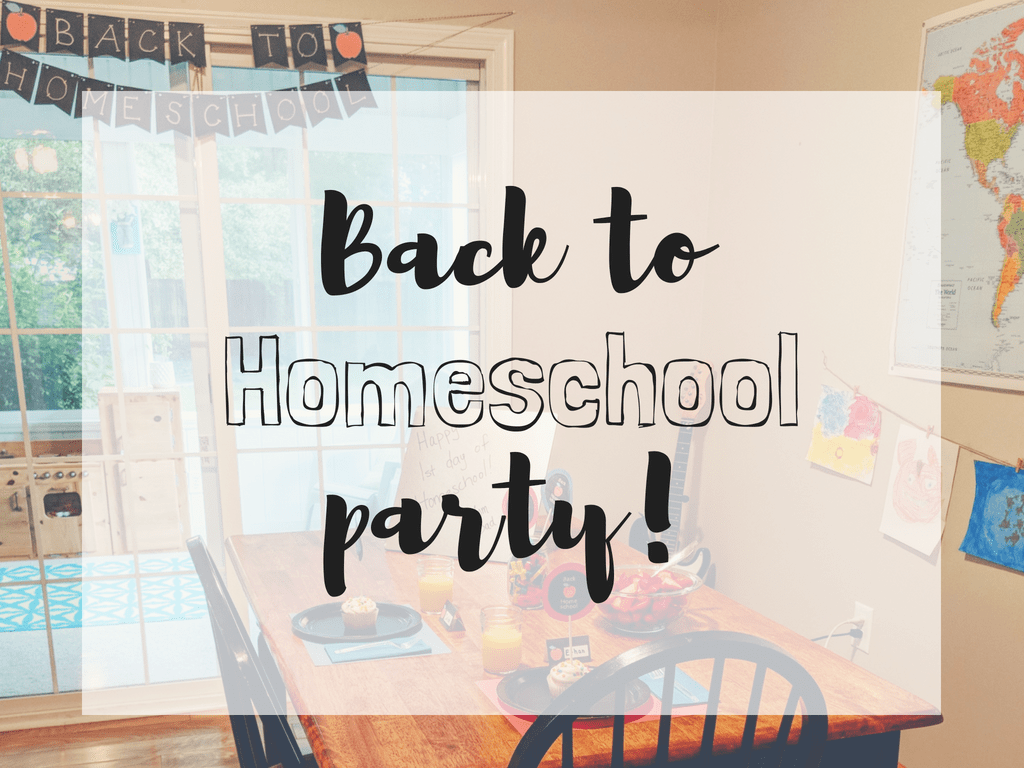 Back to homeschool party! No better way than to celebrate back to school- homeschooling style with a breakfast party! #homeschool #backtoschool #freeprintable