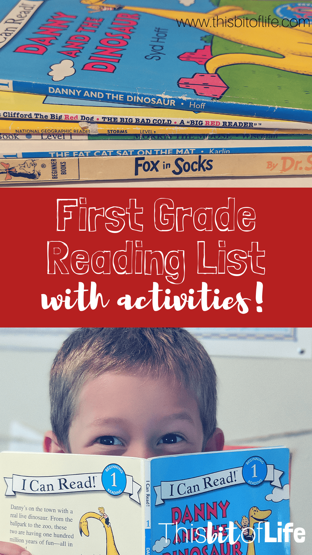 First grade reading list- I know this first grade reading list will make your homeschooled child excited to read! There are additional activities included for each book so your kids can have fun doing a craft along with their reading. #reading #firstgrade