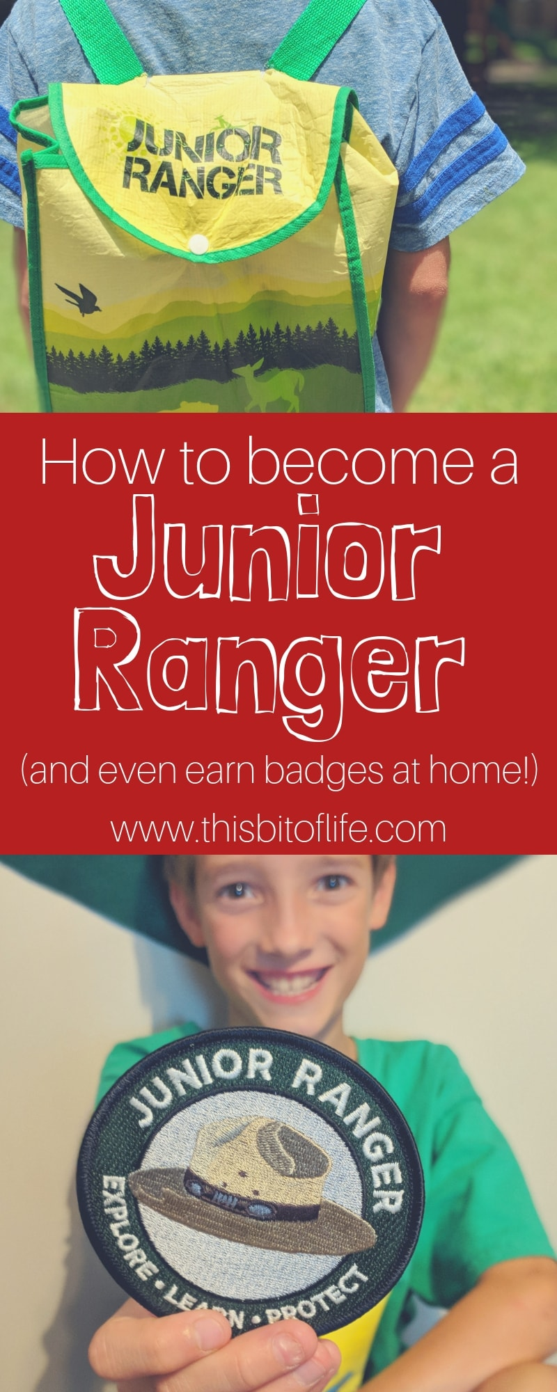 How can your kids become Junior Rangers? Did you know there's even ways they can do it right from home? #juniorrangers #roadschooling #nationalparks #kidsinparks #freeprintable