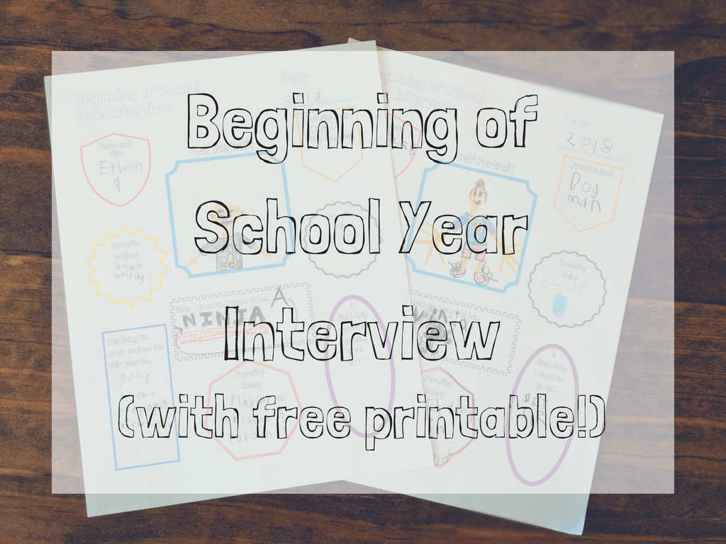 beginning of school year interview