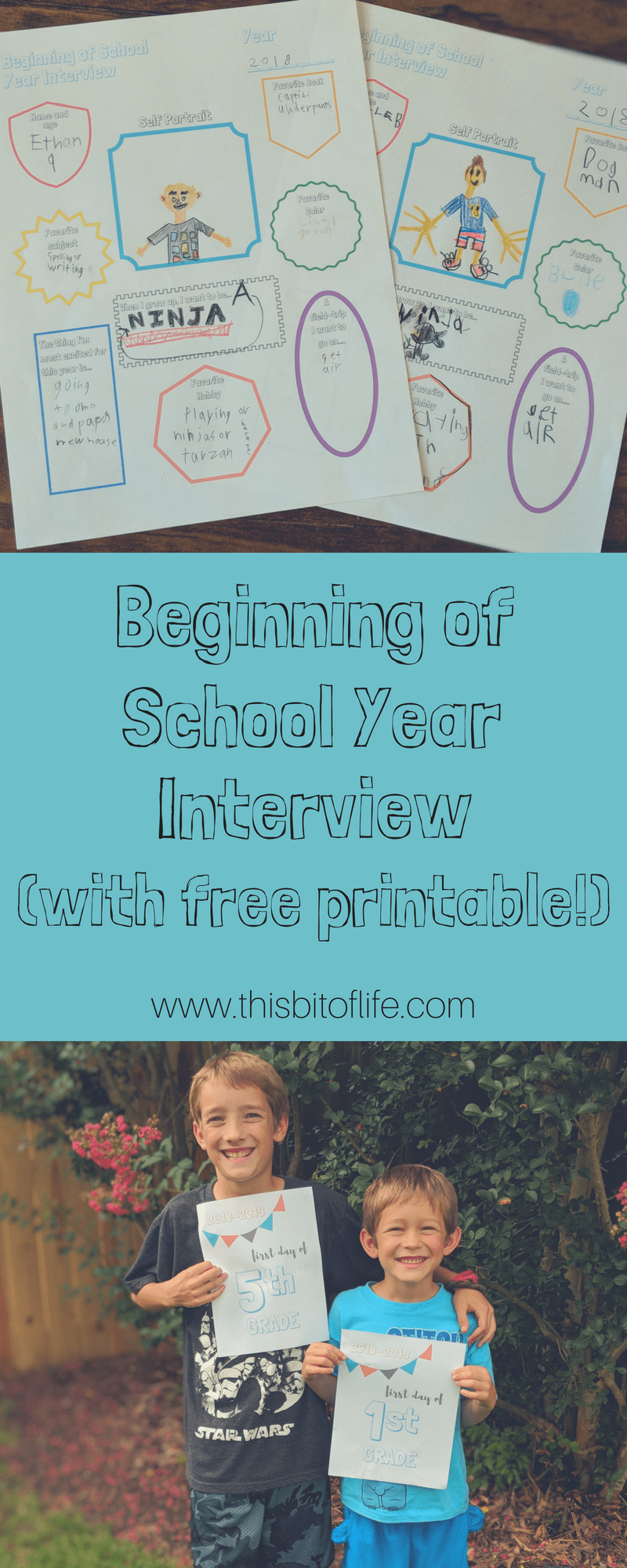Beginning of School Year Interview - This Bit of Life