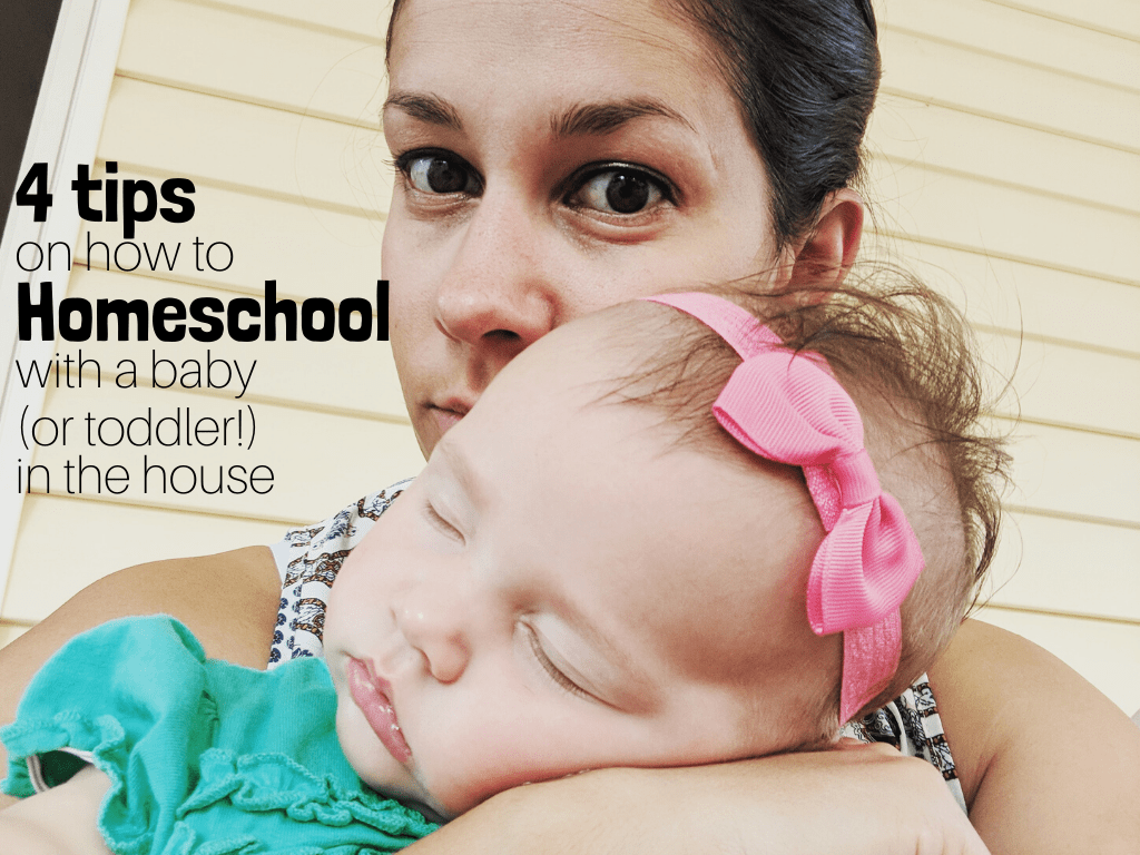 Homeschooling with a baby in the house can have it's challenges! Having a relaxed and flexible homeschool is key. #homeschooling #homeschoolwithababy