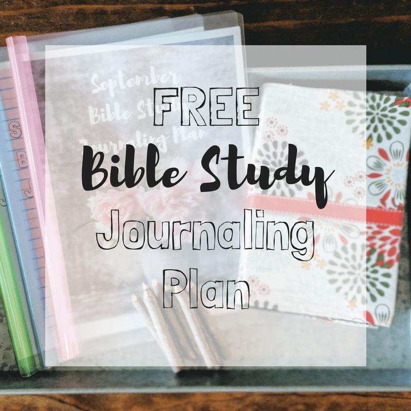 Free bible study journaling plan