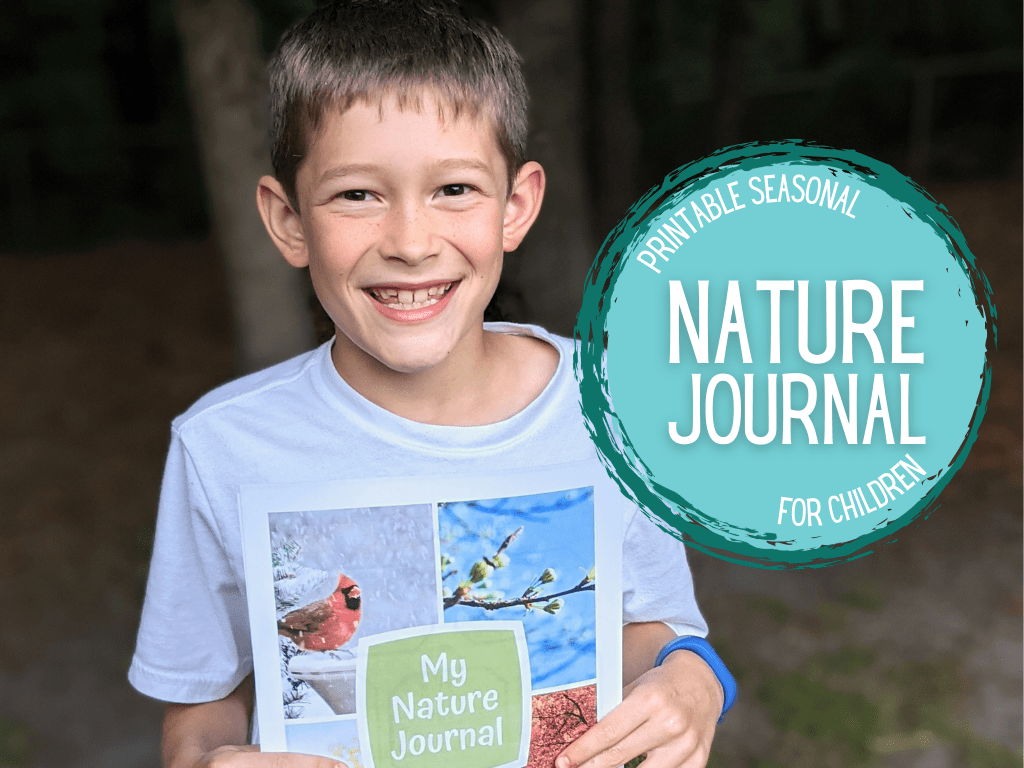 Printable seasonal nature journal for kids. Take your nature studies to the next level in your homeschool with this printable nature journal for kids!