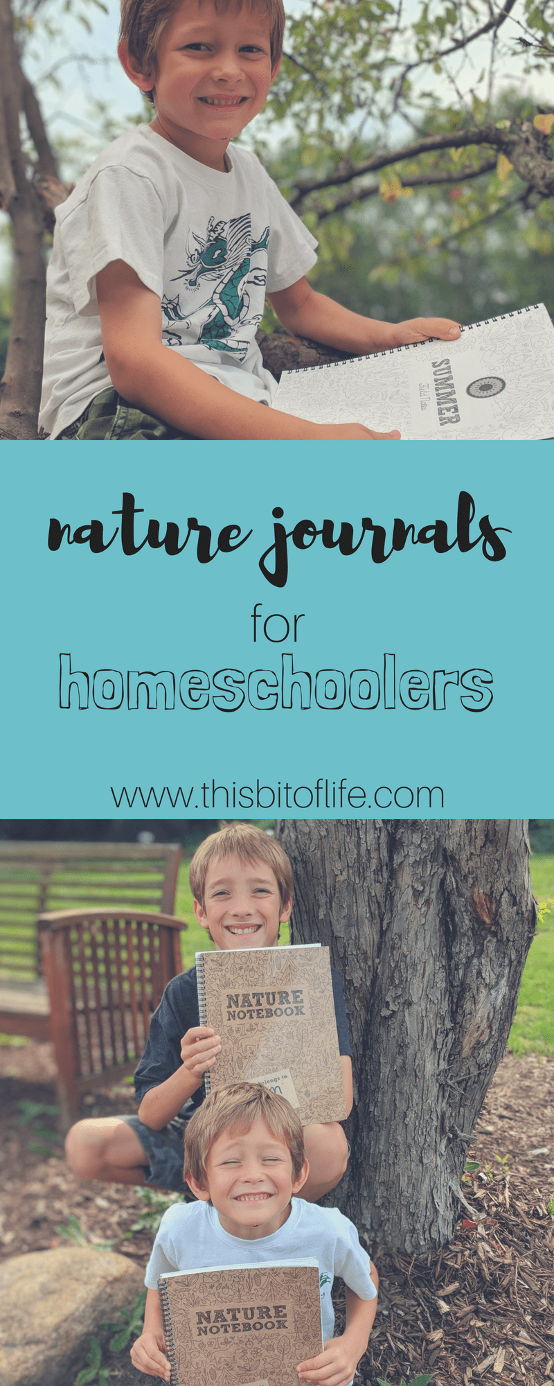 Nature Journals for Homeschoolers. We have loved adding nature journaling into our homeschool days! Being out in nature and adding in these nature notebooks has changed the way we incorporate nature studies into our homeschool. #naturejournaling #naturenotebooks #thegoodandthebeautiful #charlottemason #homeschool