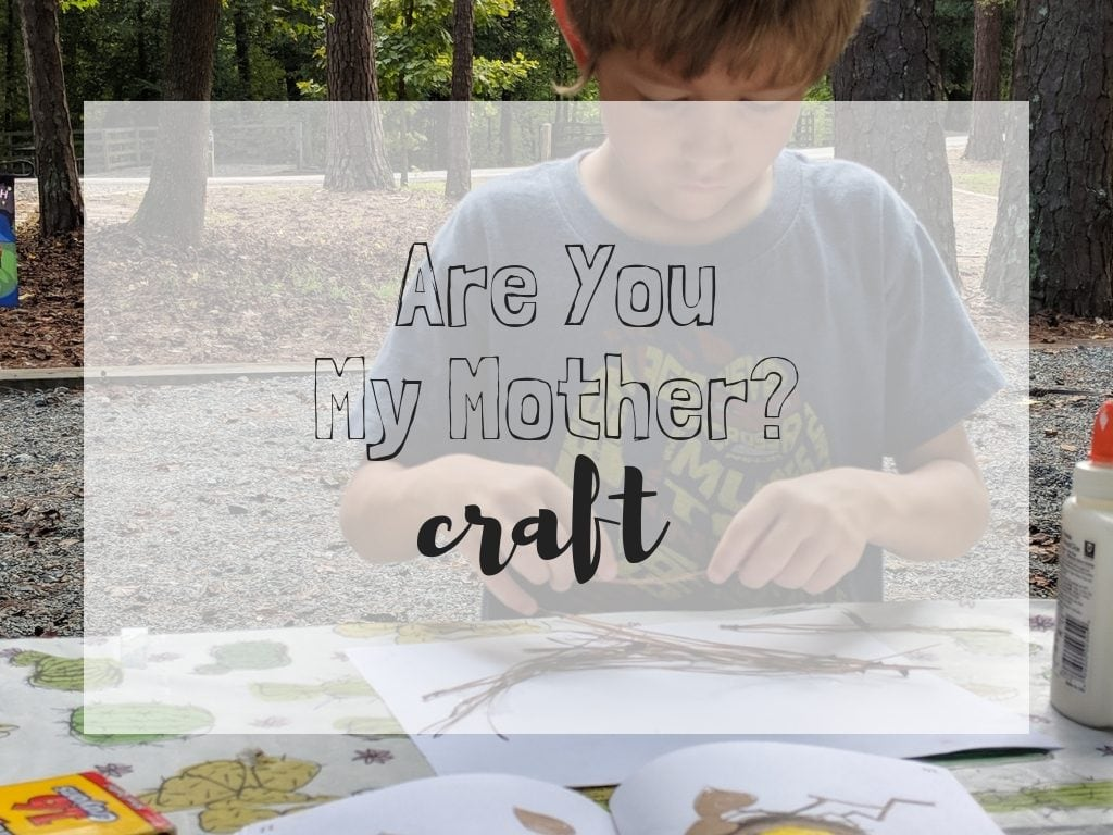 Are You My Mother Craft. Reading with my first grader is so much fun! Especially when we add in crafts like this one. Homeschool reading doesn't have to be something hard. Enjoy teaching your homeschooler to read by adding in fun crafts! #crafts #homeschooling #homerschooler #firstgrade #areyoumymother