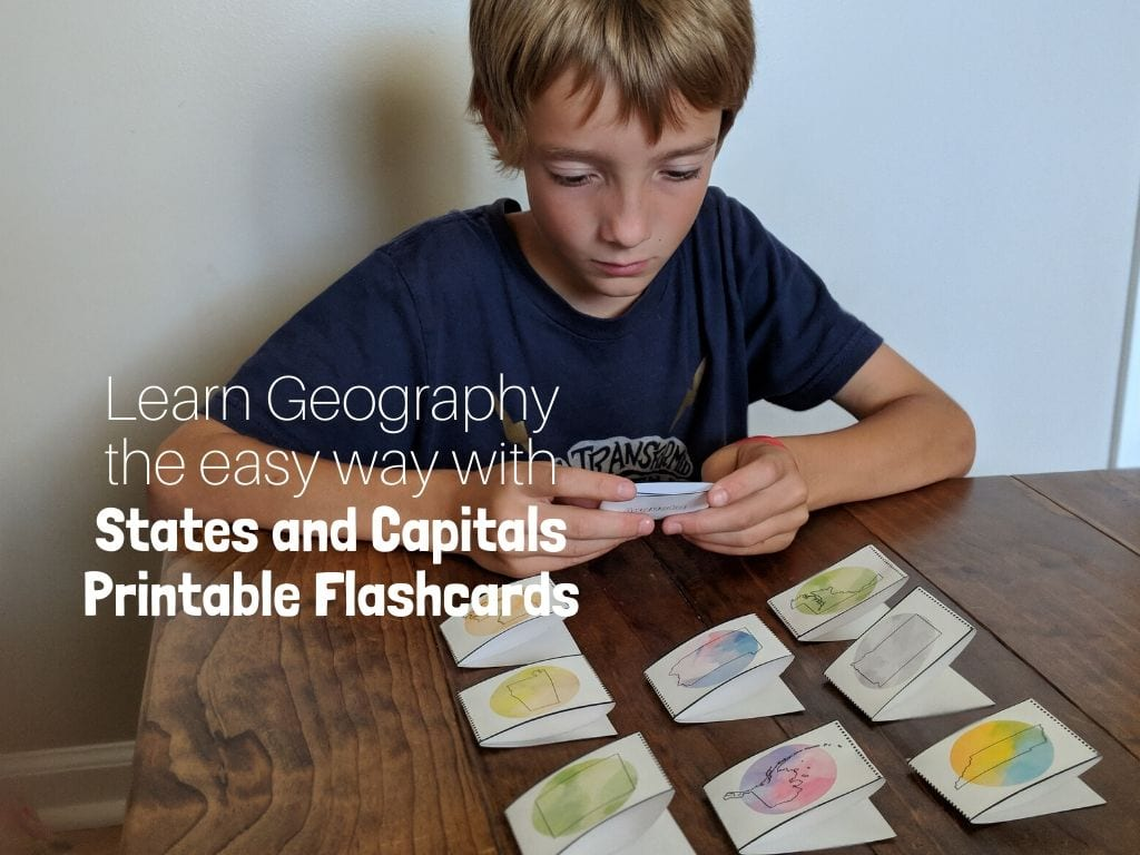 states and capitals printable flashcards