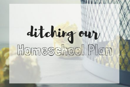 ditching our homeschool plan