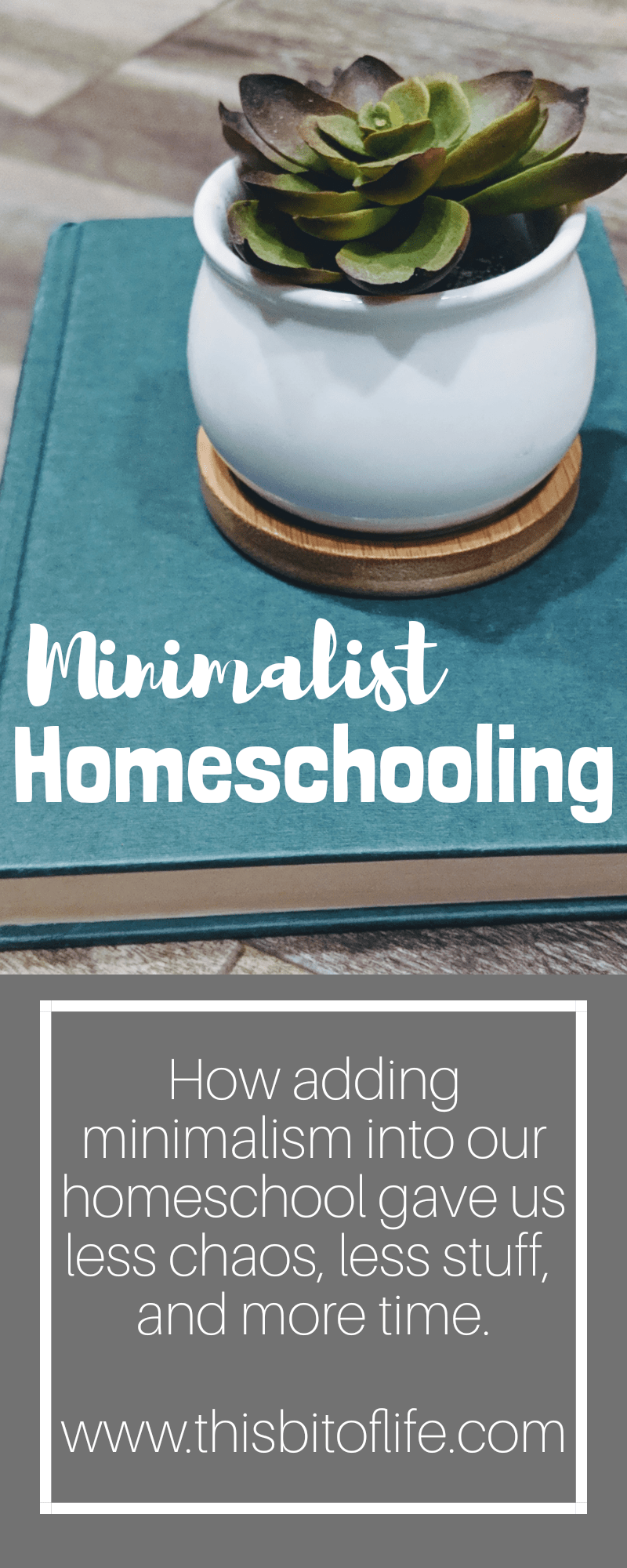 Minimalist Homeschool. How adding minimalism to our homeschool gave us less chaos, less stuff, and more time.