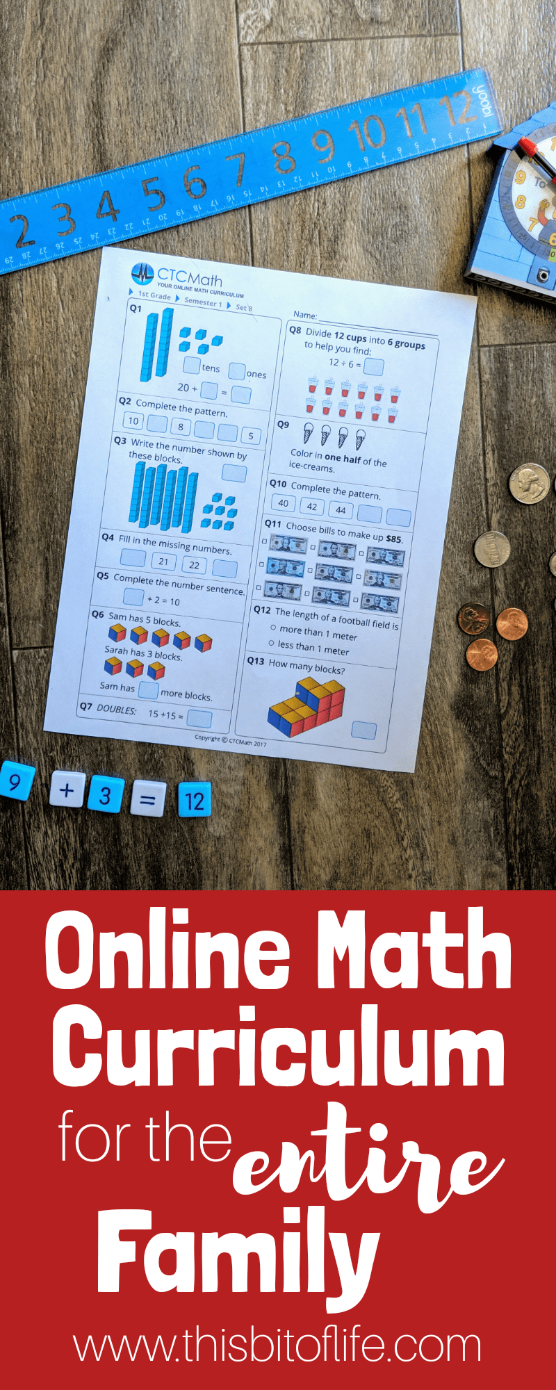 Online Math Curriculum for the Entire Family. CTCMath is affordable math curriculum that will make math stress free #mathcurriculum #ctcmath #homeschoolmath #onlinemath