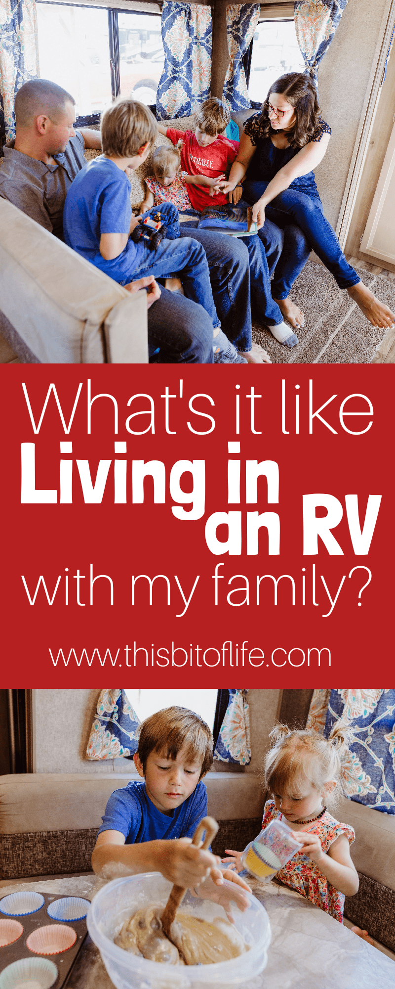 What's it like living in an RV with my family? Here is how we make full time RV life work #fulltimefamily #fulltimervfamily #rvlife #roadschooling