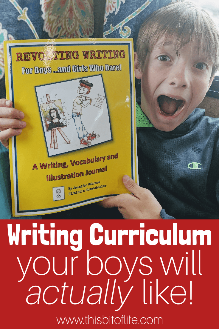 Revolting Writing For Boys (And Girls Who Dare!) is such a fun writing curriculum! My boys love the writing prompts, hilarious vocabulary, and cursive writing practice. #writingcurriculum #writingforboys #homeschooling #homeschoolwriting