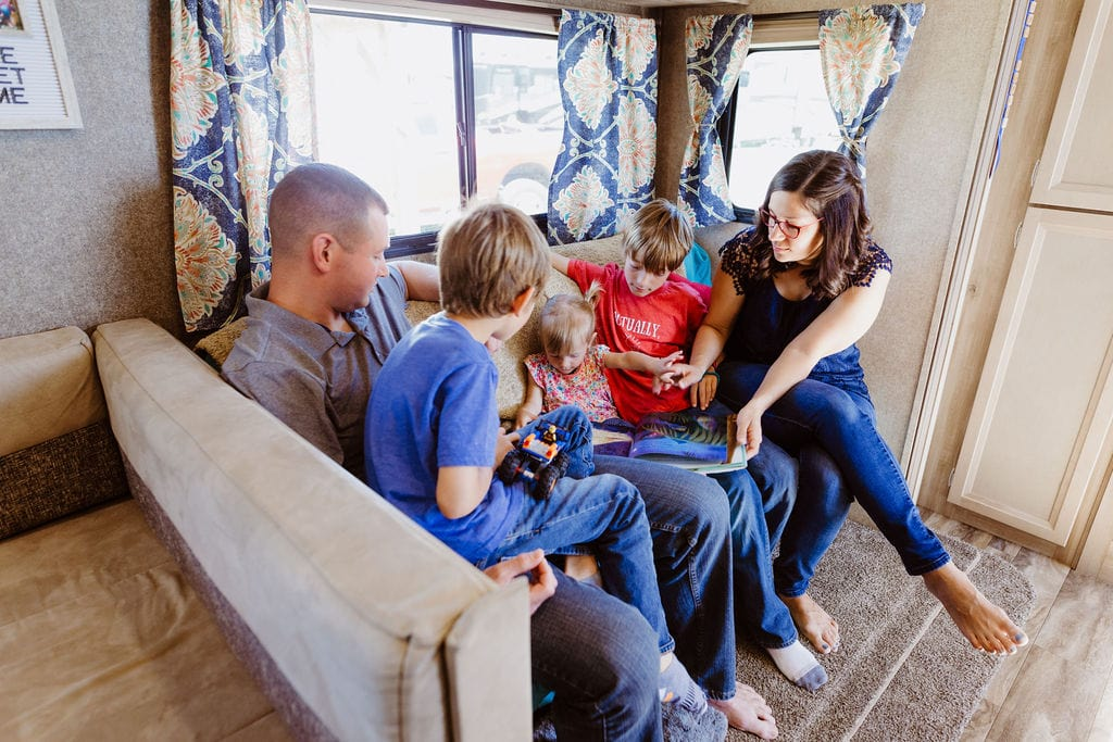 What's it like living in an RV with my family?