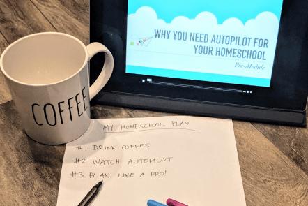 autopilot homeschool planning course