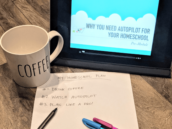 autopilot homeschool planning course