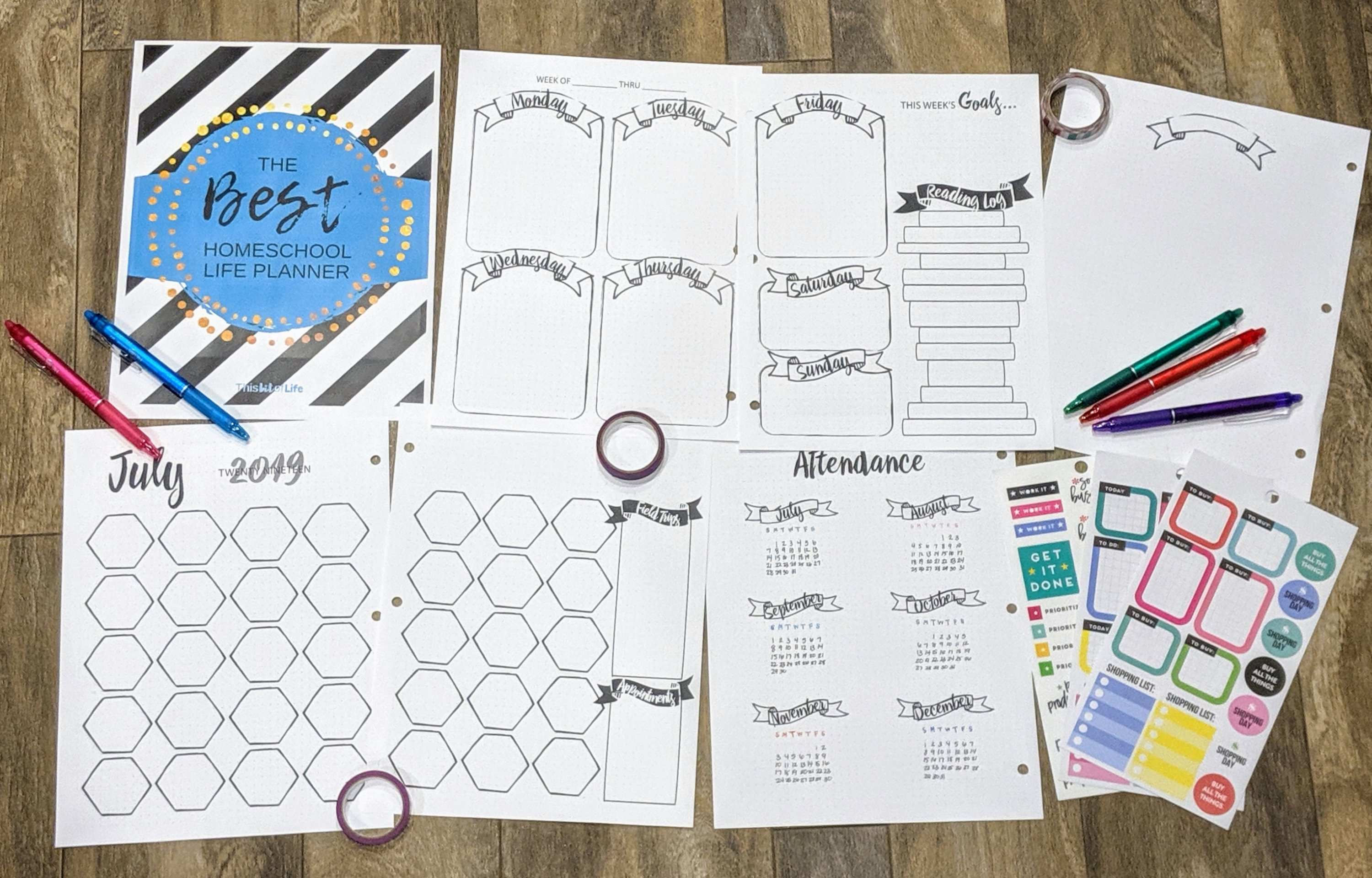 The Best Homeschool Life Planner