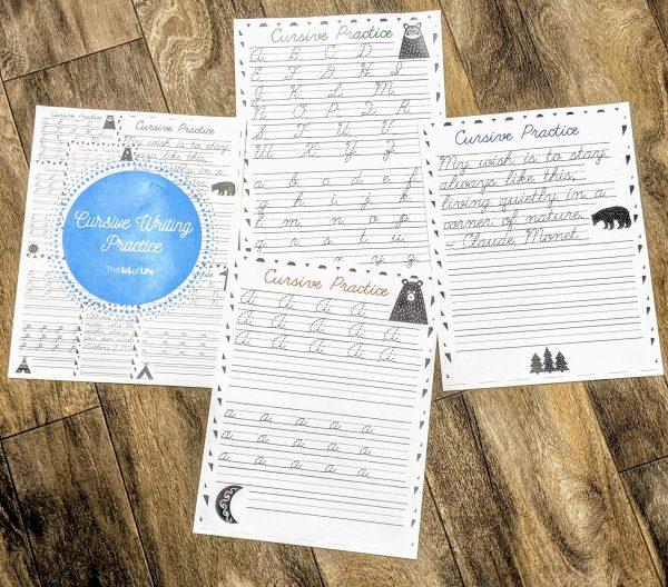 cursive writing practice notebook
