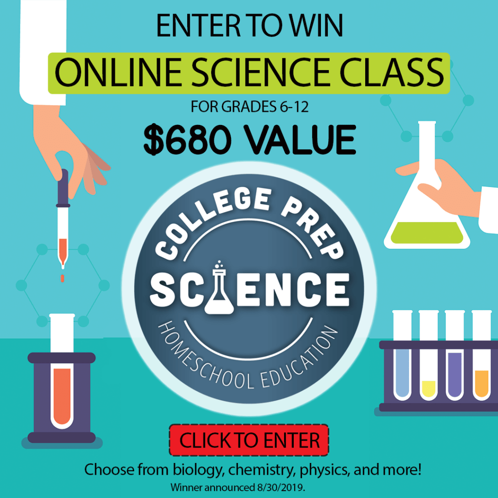 College Prep Science Giveaway! Win a free online homeschool science class. #giveaway #homeschoolscience
