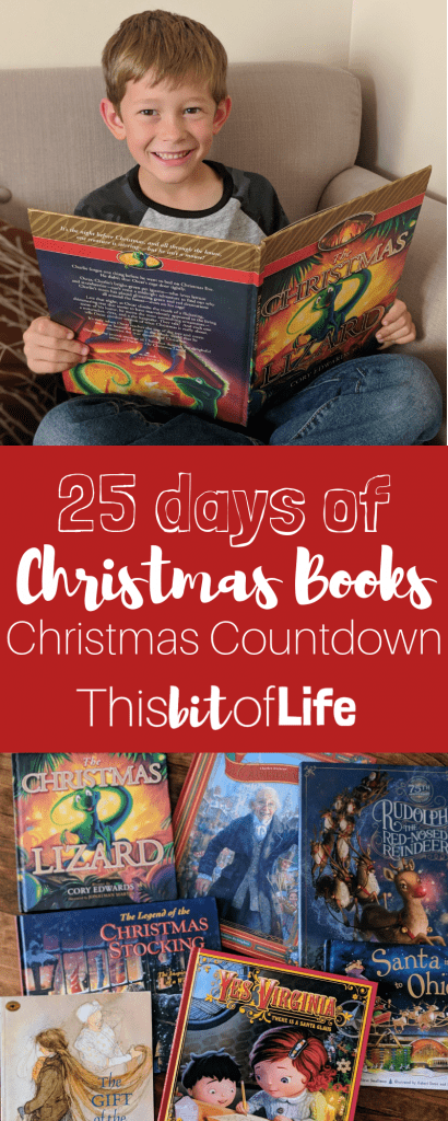 A new Christmas tradition! 25 days of Christmas books. Read your way to Christmas with a new book every day. A great tradition to start in your home with your kids and family!