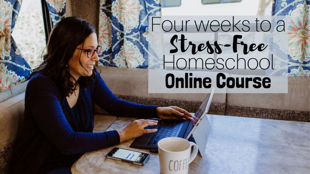 Four Weeks to a Stress-Free Homeschool Course will help you get started in your homeschool. It includes a free homeschooling guide ebook!
