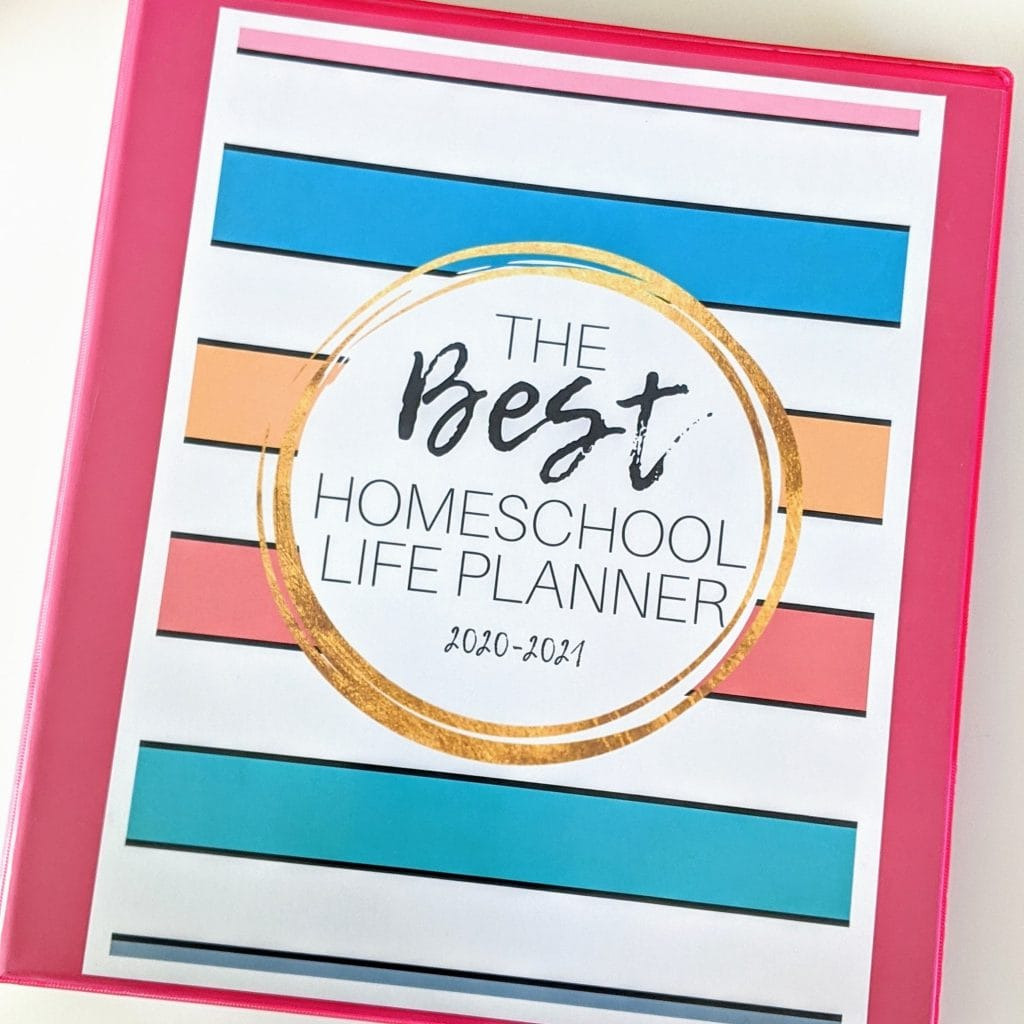 The Best Homeschool Life Planner is the perfect homeschool mom gift