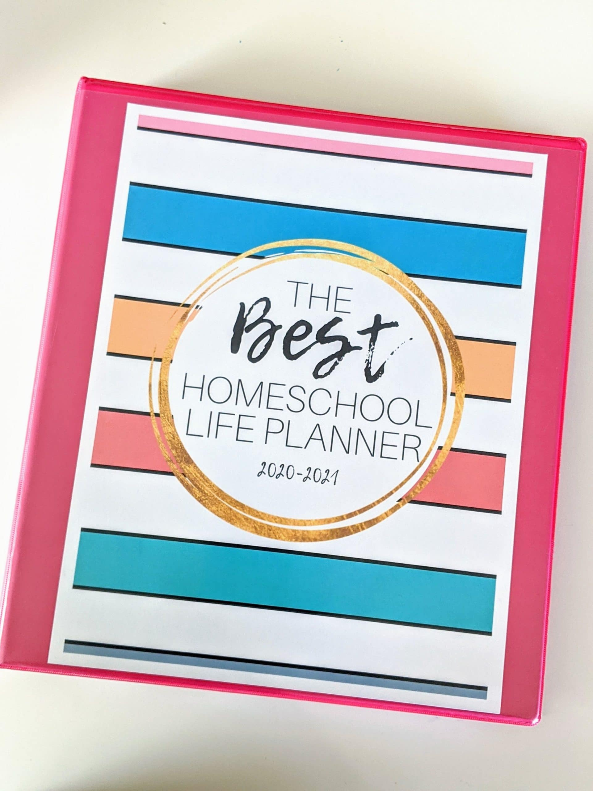 The Best Homeschool Life Planner. This planner is where bullet journals and traditional homeschool planners unite. Customize it to be your perfect homeschool life planner! #homeschoolplanner #planner