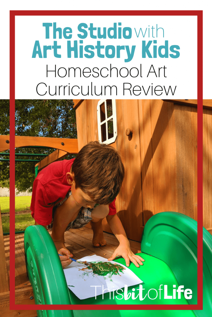 The Studio with Art History Kids is the best homeschool art curriculum! The lessons are all online and it has made our homeschool art time our favorite time of the week. #homeschoolart #artcurriculum #thestudio #arthistorykids