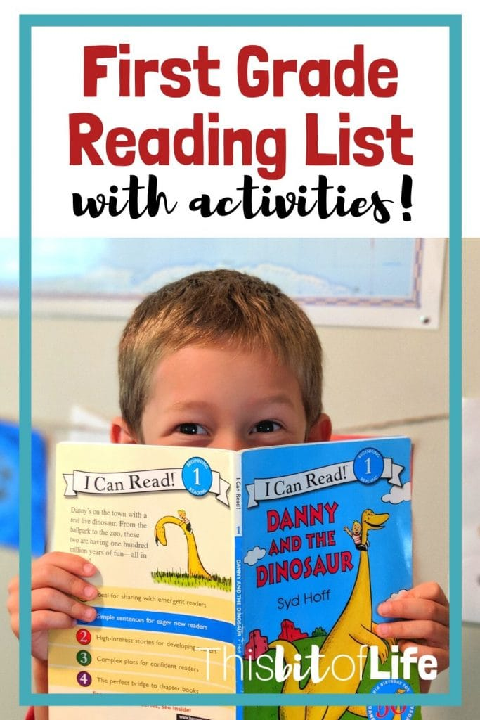 First grade reading list- I know this first grade reading list will make your homeschooled child excited to read! There are additional activities included for each book so your kids can have fun doing a craft along with their reading. #reading #firstgrade #firstgradereadinglist