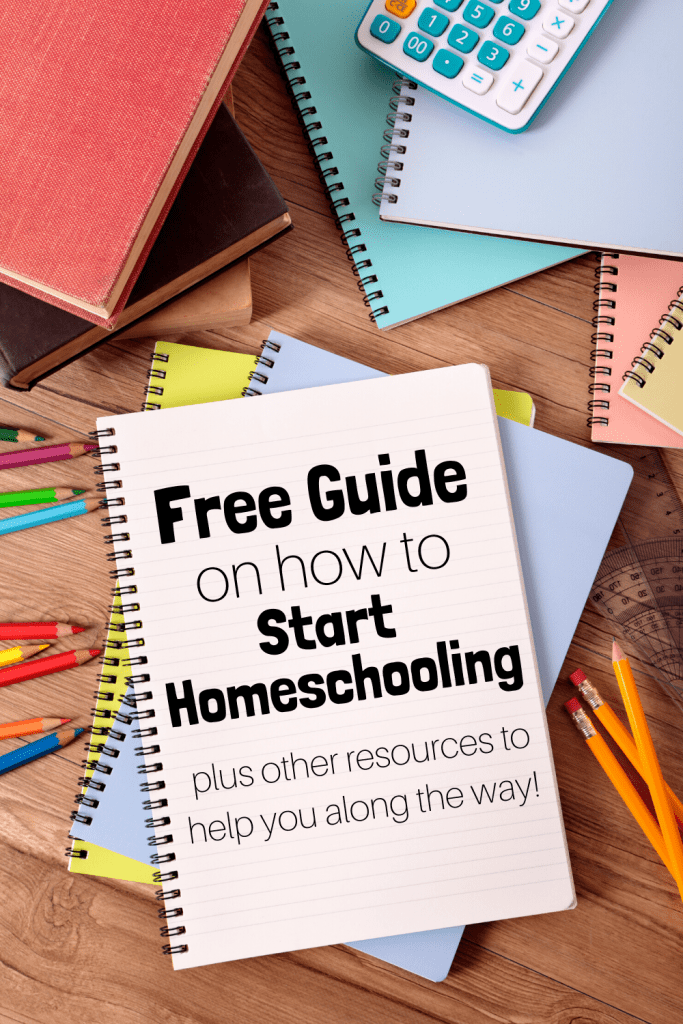 Get a free guide on how to start homeschooling so that you can be stress-free in your homeschool journey! Plus other homeschooling resources to help you along the way. #howtostarthomeschooling #howtohomeschool #homeschooling #homeschoolresources