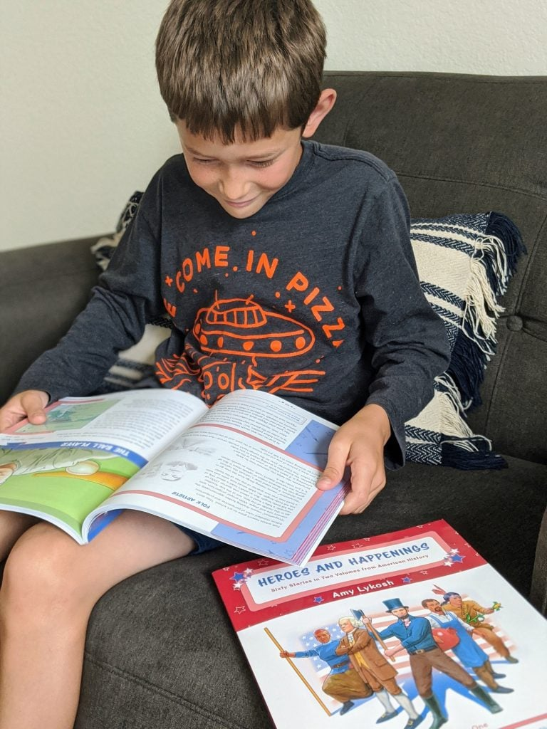 Is Kindergarten too young to use an American History Curriculum? Not when you use something as great as Sonlight's new Exploring American History! #kindergartencurriculum #kindergartenhistory #Sonlight
