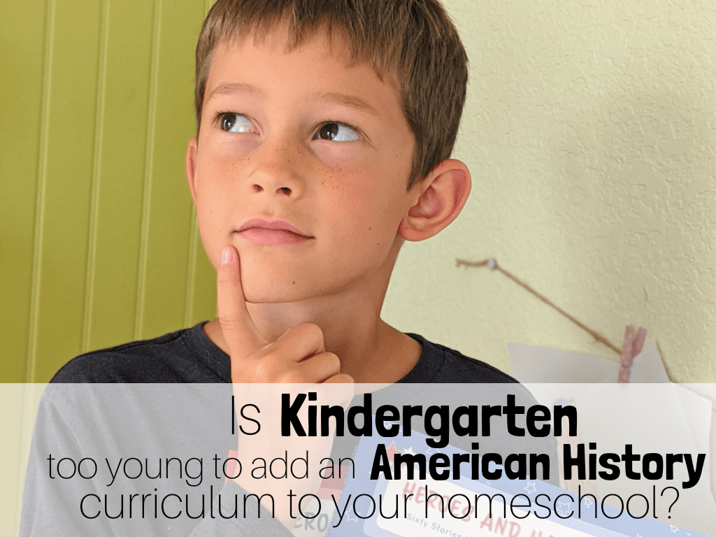 Is Kindergarten too young to use an American History Curriculum in your homeschool? Not when you use something as great as Sonlight's new Exploring American History! #kindergartencurriculum #kindergartenhistory #Sonlight