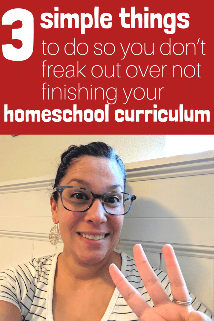 Worried about not finishing your homeschool curriculum? Worry no more! I have three tips for you so that you will finish with more than enough days, with more than enough learning, and with everything you need to keep your homeschool mom mind at ease!  #homeschooling #homeschoolcurriculum #homeschoolmom