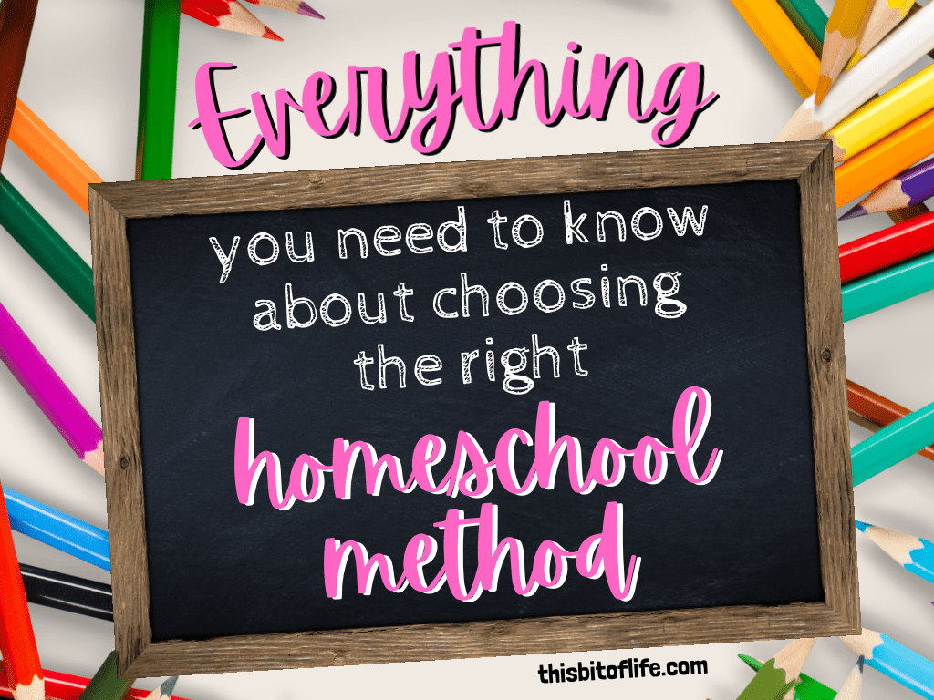 Everything you need to know about choosing the right homeschool method