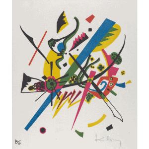 Vasya Kandinsky painting. Free Artist Study from Rabbit Trails through Literature. free language arts lesson. free art lesson. homeschool language arts. homeschool art lesson. free homeschool lesson. #homeschooling