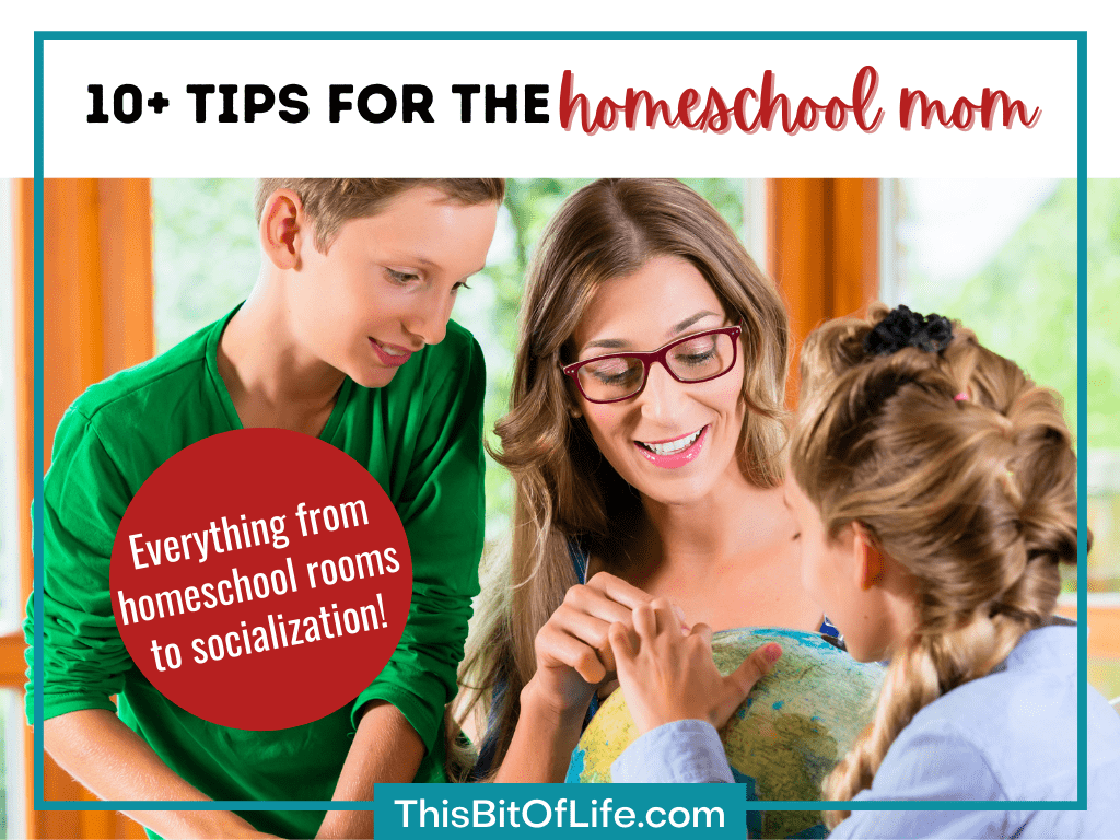 10+ tips for the homeschool mom: everything from homeschool rooms to socializagtion!