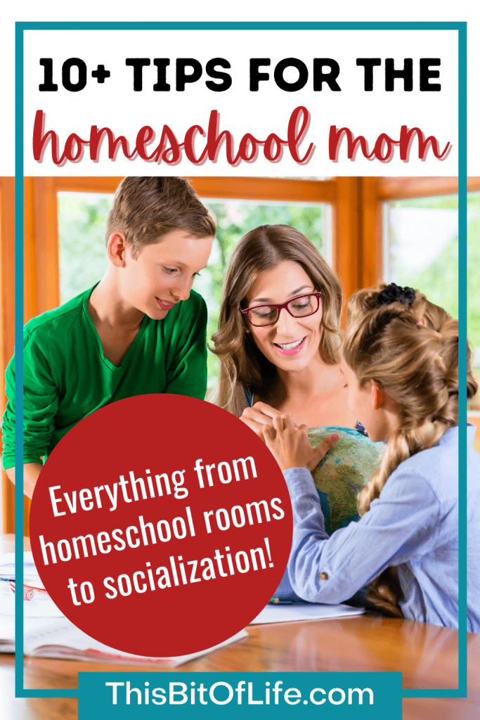 10+ tips for the homeschool mom: everything from homeschool rooms to socialization! Have a successful homeschool with these top tips for homeschool moms. Everything you need to know for your homeschool. The best homeschool tips. Tips for your homeschool. The best homeschool resources. The best tips for your homeschool. The ultimate list of homeschool tips. #homeschool #homeschooltips