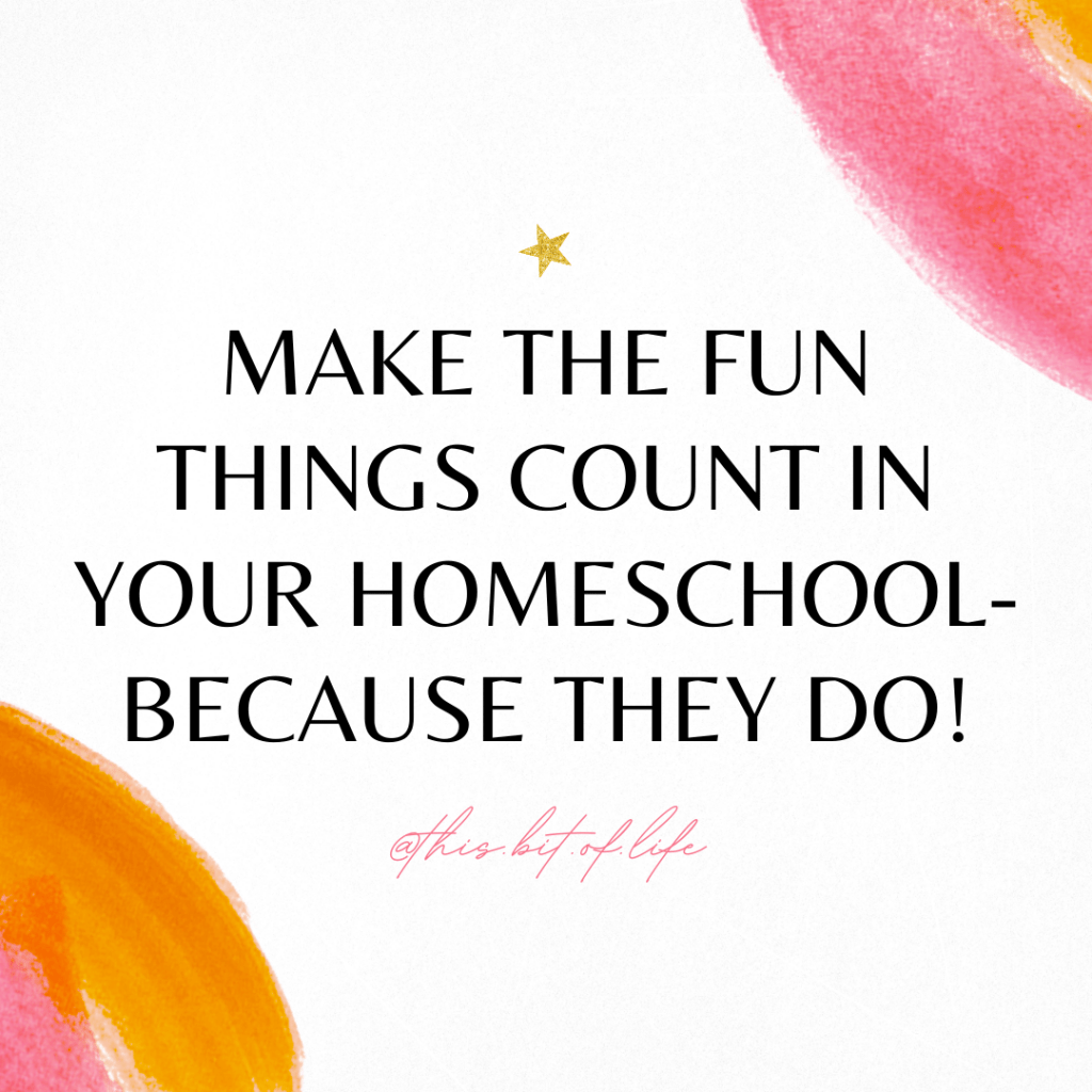 Do the fun things count in your homeschool? Yes! Here are three tips so you don't freak out over not finishing your homeschool curriculum.