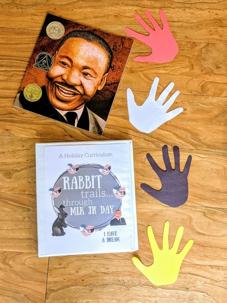 rabbit trails through Martine Luther King Jr Day. A holiday unit study celebrating dr martin luther king jr. MLK unit study. MLK lesson. martin luther king junior lesson. MLK curriculum. Homeschool curriculum. Homeschool unit study. #MLK #homeschool