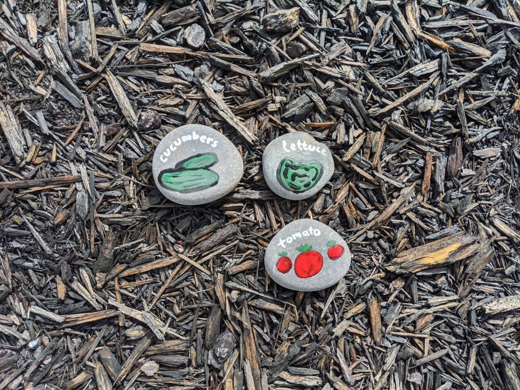 create your own garden rocks during this free nature lesson about spring
