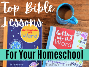 Top Bible lessons for your homeschool. Bible curriculum to use in your homeschool. Homeschool Bible curriculum. Bible studies for the homeschool mom. Bible studies for moms. Bible studies to use as a family. Getting into the Word as a family.