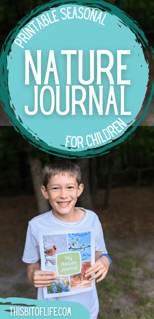 Looking for a way to easily get out in nature with your children? This nature journal for kids is the perfect way to encourage getting outside! Enjoy nature studies together as a family with this nature journal. Nature poetry, seasonal nature journal pages, learn about nature in your homeschool. Nature journal for homeschoolers. Learning nature for kids. Homeschool nature studies. Charlotte Mason nature studies. Homeschool nature studies. #naturestudy #homeschool