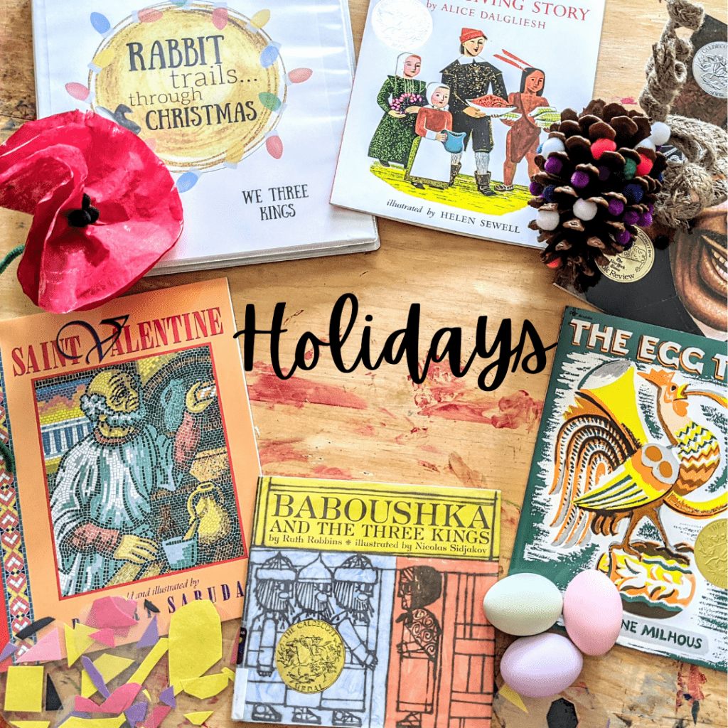 Rabbit Trails Holiday Curriculum. Literature based Holiday curriculum for elementary age homeschoolers