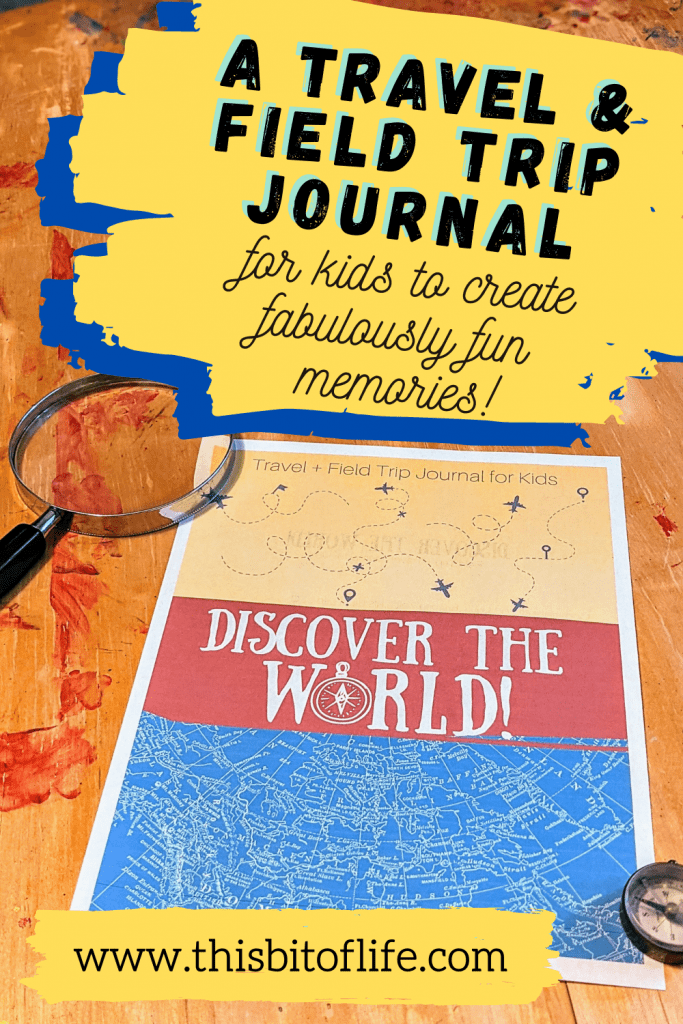 Travel and field trip journal to use in your homeschool!