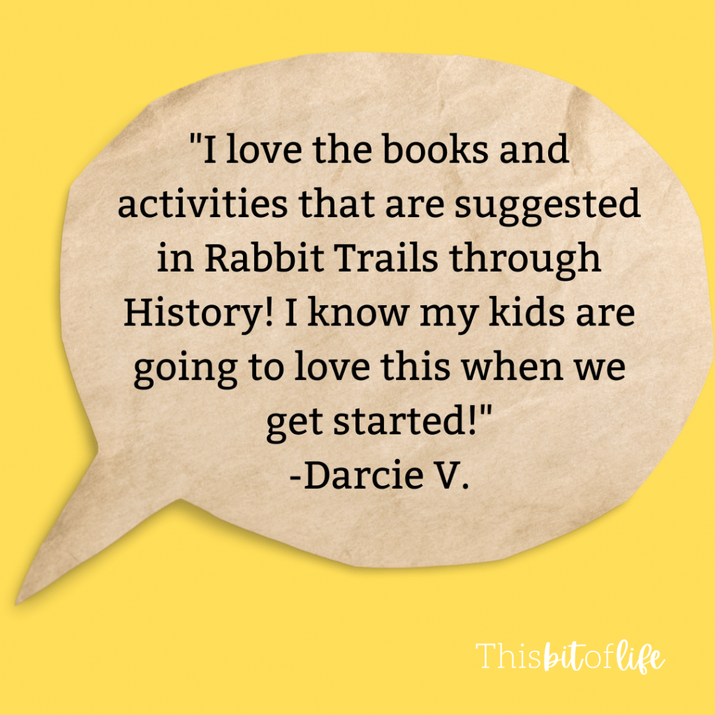 Rabbit Trails through History Review. See what others have to say about this literature based history curriculum! Learn about our founding father and founding mothers. Charlotte Mason inspired history curriculum. Literature based history curriculum. Homeschool history curriculum. #homeschool #historycurriculum