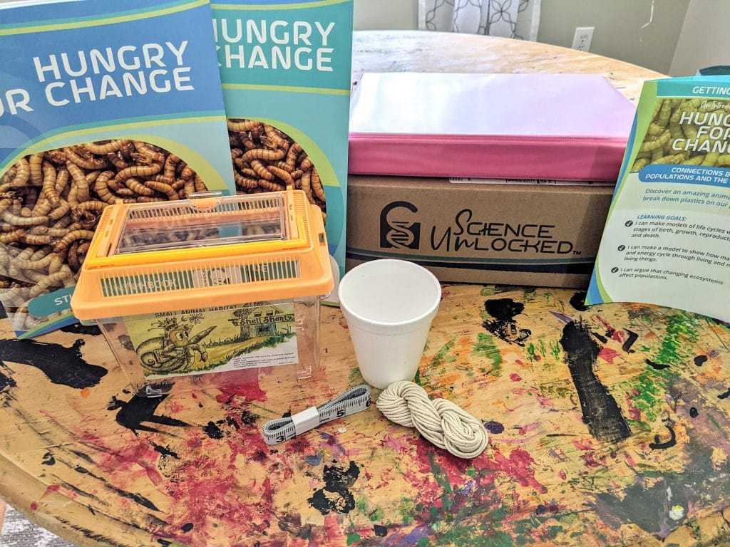 Hands On Science with Science Unlocked! A science kit for homeschoolers that has everything you need to get hands on in science. Science experiments delivered to your door. Hands on homeschool science. Easy science experiments. No prep science experiments. Science kits for homeschoolers. #science #homeschool